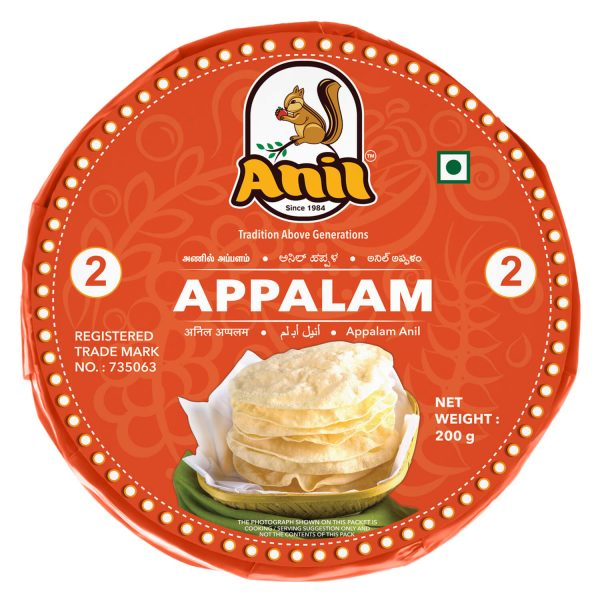 Anil Foods-APPALAM-2NO-200 GM