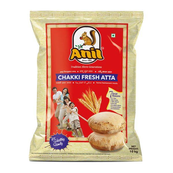 Anil Foods-CHAKKI FRESH ATTA-10 KG